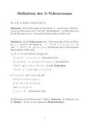 Definition des K-Vektorraums