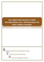 Päpstlicher Rat für den Interreligiösen Dialog Ökumenische Rat der ...