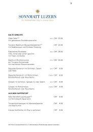 Cäsar-Salat** mit gebratenen Pouletbruststreifen (CH) CHF 23.50 ...