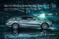 Preisliste Mercedes-Benz CLS Shooting Brake Business-Paket vom 07.10.2013.