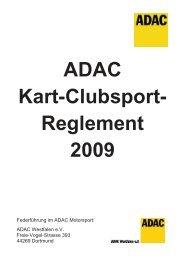 ADAC Kart-Clubsport- Reglement 2009