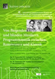 Von fliegenden Vögeln und blinden Musikern Programmmusik ...