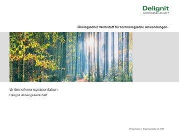 Die Delignit Aktie - Deutsches Eigenkapitalforum