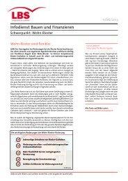 Infodienst Bauen und Finanzieren - Änderungen beim Wohn ... - LBS