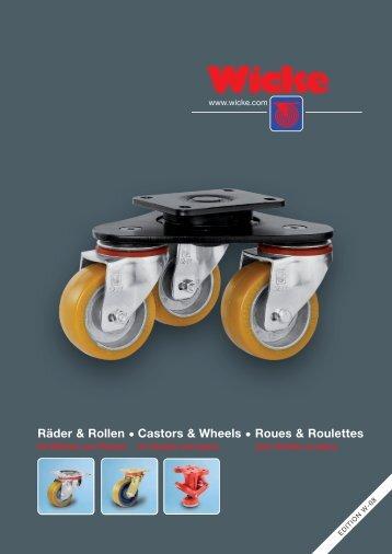 Räder & Rollen • Castors & Wheels • Roues & Roulettes