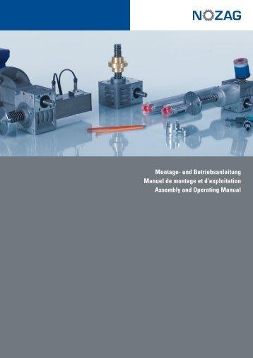 Montage- und Betriebsanleitung d - Nozag AG