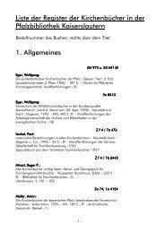 Liste für Genealogen 2009
