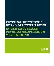 und Weiterbildung - Psychoanalytisches Institut Heidelberg/Karlsruhe