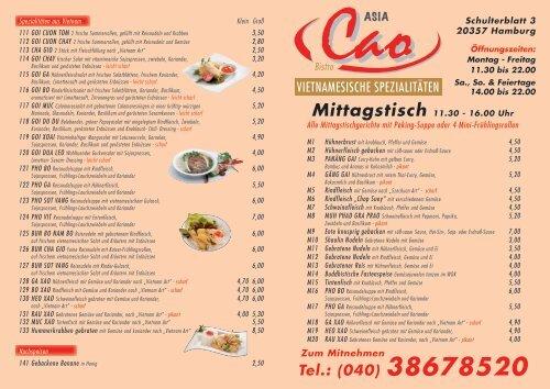 Speisekarte komplett als PDF zum downloaden - CAO Asia