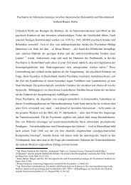 Psychiatrie im Nationalsozialismus zwischen ökonomischen Zwang ...