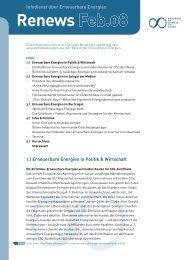 Renews Feb.08 - Agentur für Erneuerbare Energien