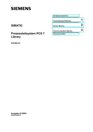 SIMATIC Prozessleitsystem PCS 7 Libraray