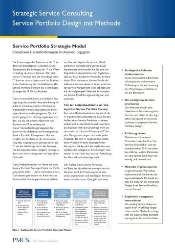 Portfolio inhaltsverzeichnis gpb consulting for Design consultancy services