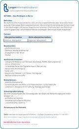 ASTHMA - Lungeninformationsdienst