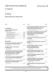 Plenarprotokoll der 36. Sitzung - Abgeordnetenhaus von Berlin
