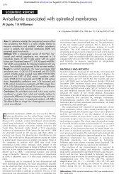 Aniseikonia associated with epiretinal membranes - British Journal ...