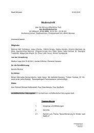 Niederschrift öffentlich - Sitzung 27.01.2010 Sitzung