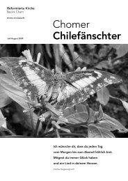 Chomer Chilefänschter - Juli/August 2009 - Reformierte Kirche Zug