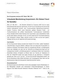 Urlaubsziel Mecklenburg-Vorpommern. Ein ... - Germany Travel