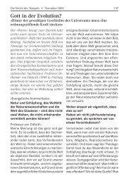November 2009 - Im PDF-Format - Tempelgesellschaft