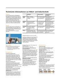 Technische Informationen zur Dübel - BTI Befestigungstechnik ...