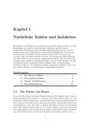 Kapitel 1 Natürliche Zahlen und Induktion