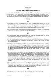 Satzung über die Hausnummerierung - Holzkirchen