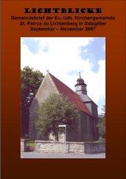 Lichtblicke Lichtblicke - St. Petrus in SZ-Lichtenberg
