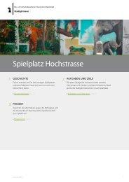 Spielplatz Hochstrasse - Stadtgärtnerei - Basel-Stadt