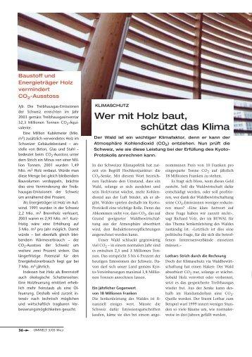 Wer mit Holz baut, schützt das Klima - Waldwissen.net