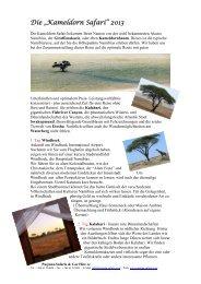 """Die """"Kameldorn Safari"""" 2013 - Pasjona Safaris"""