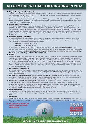 Regularien 2013 - Golf- und Landclub Haghof