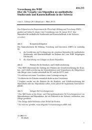 Verordnung des WBF über die Vergabe von Stipendien ... - admin.ch