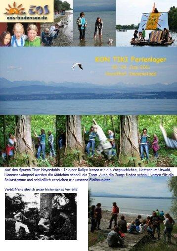 Bilderbericht zu unserem Kon-Tiki Ferienlager ... - EOS-Bodensee