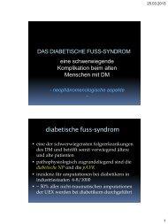 diabetische fuss-syndrom - Österreichische Akademie der Ärzte