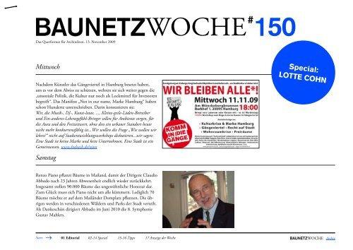 BauNetzWoche#150 Lotte Cohn