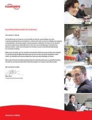 Geschäftsverhaltenskodex für Lieferanten - Flowserve Corporation