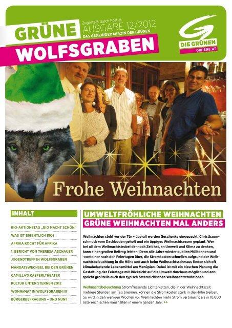 GRÜNE WOLFSGRABEN - Die Grünen