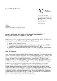 Dezernat III/Bender, Reimund Vorlage TA_18/2005 zur öffentlichen ...
