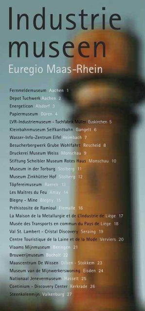 Industriemuseen Euregio Maas-Rhein - german - booklet / draft