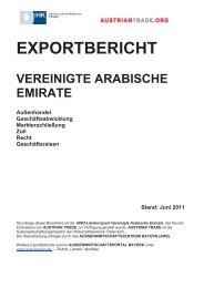 EXPORTBERICHT VEREINIGTE ARABISCHE EMIRATE ...