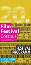 Programmheft des 20. FilmFestival Cottbus