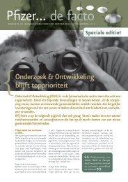 Onderzoek en Ontwikkeling. Speciale editie - Pfizer