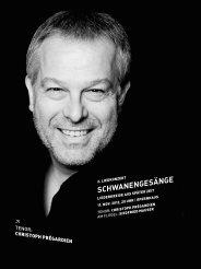 Programmheft 2. Liedkonzert - Oper Stuttgart