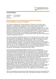 Pressemitteilung ELM beteiligt sich an Forderung kirchlicher ...