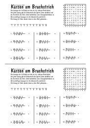 Kürzen am Bruchstrich Kürzen am Bruchstrich - Blume Programm