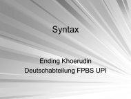 Syntax - File UPI