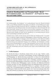 Schulische Handlungsfelder am Übergang Schule - Beruf: Die ...