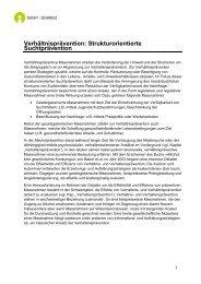 Verhältnisprävention: Strukturorientierte ... - Sucht Schweiz