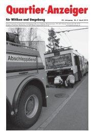 Ausgabe 3, April 2013 - Quartier-Anzeiger Archiv - Quartier ...